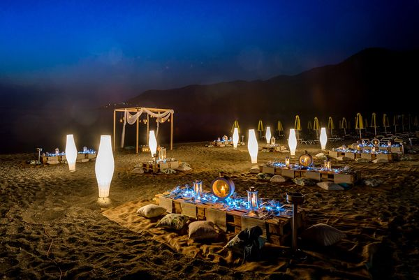 Wedding reception party on the beach! See more here http://www.love4weddings.gr/wedding-in-skopelos/ #WeddingBeachParty #Skopelosweddings