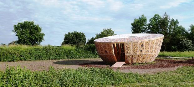 casa pannocchia nel parco naturale di Grand Ried - Muttersholtz, Francia.
