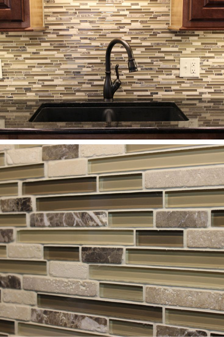 74 best kitchen tile backsplashes images on pinterest kitchen a beautiful glass tile backsplash in a geneseo kitchen remodeled by village home dailygadgetfo Gallery