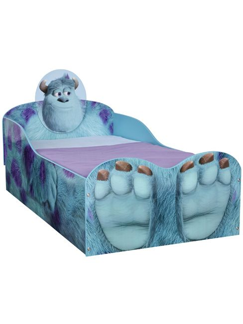 Monsters Inc University Sulley Feature Toddler Bed   Kids Bedroom