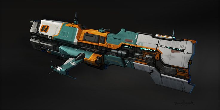 Hours 27-30 - Cantharan Destroyer Escort by ~zombat on deviantART