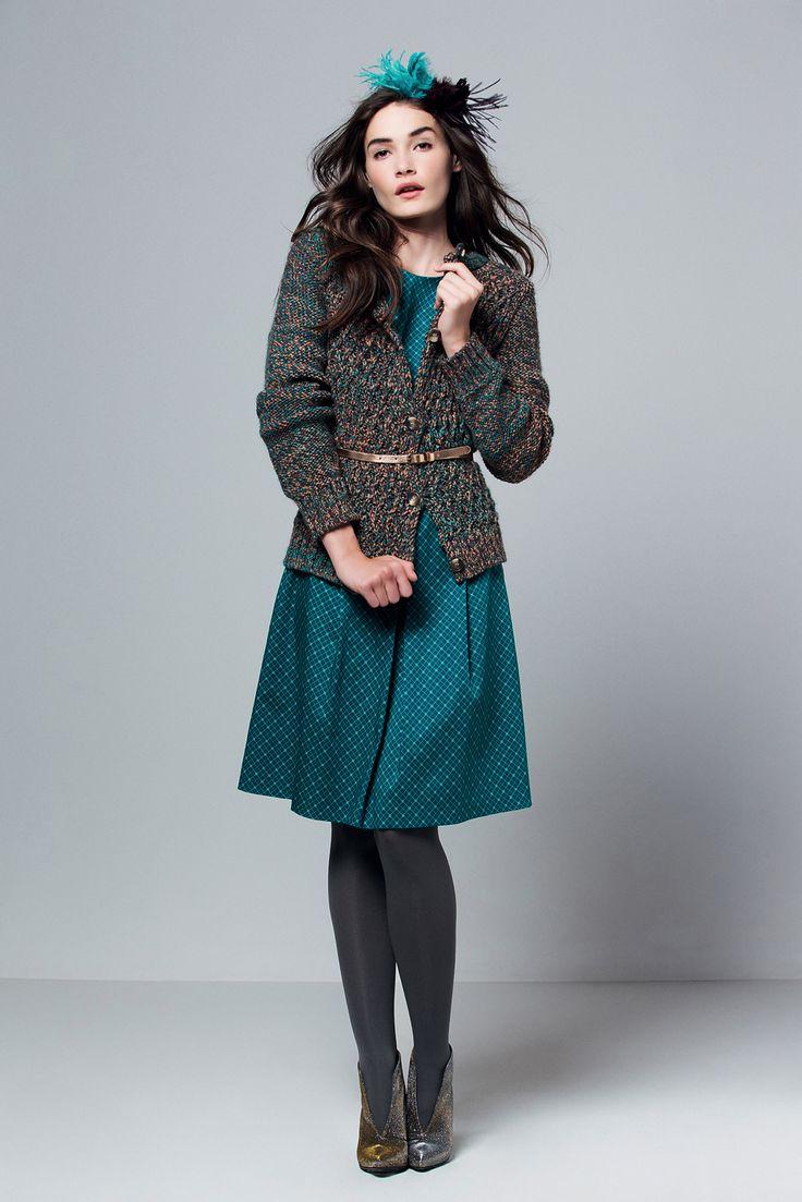 Grey Cardigan Teal Dress Dark Grey Opaque Tights Heels | Tights | Pinterest | Grey Cardigan ...