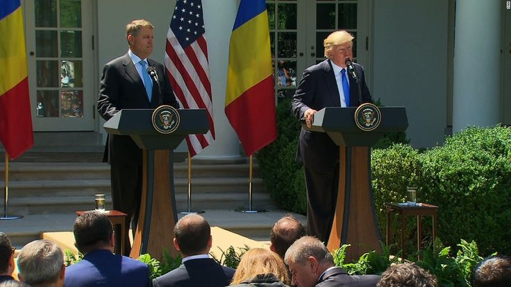 President Trump said he is willing to be questioned under oath about his conversations with fired FBI Director James Comey during a joint press conference with Romanian President Iohannis.
