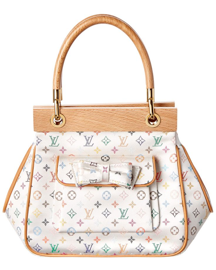 Louis Vuitton Abelia White Multicolor Mini Monogram Satin Handbag NTP8ifyt