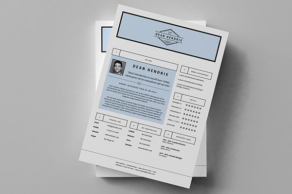 Minimal Resume / CV / Curriculum Vitae / 13 Pages on Behance