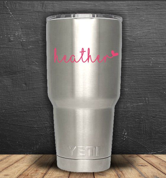 Excited to share the latest addition to my #etsy shop: Name Decal, Name Sticker, Personalized Decal, Car Decal, Custom Decal, Laptop Decal, Vinyl Decal, Yeti Decal, Cute Name Decal