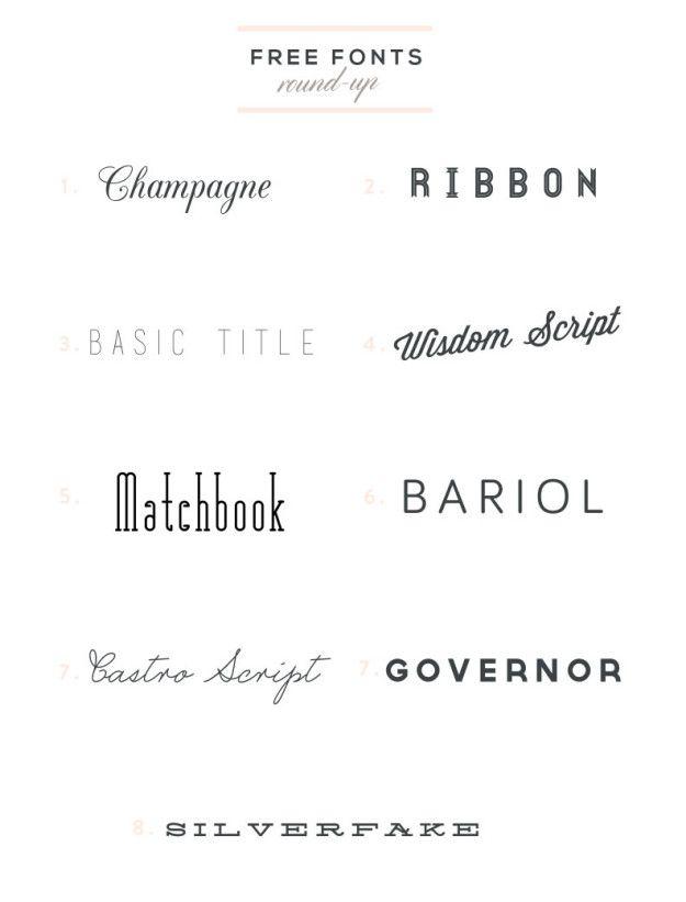 Free Font Round-up, part 2 | www.SycamoreStreetPress.com