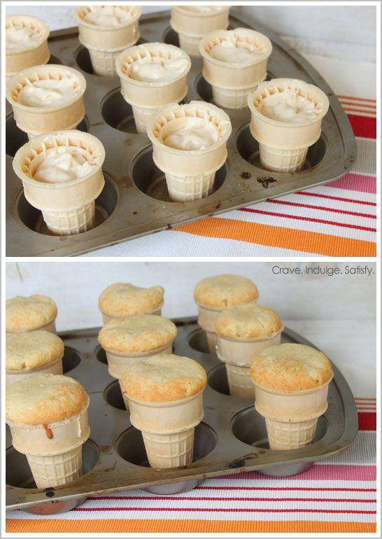 Ice Cream Cone Cupcakes by Lauren Kapeluck  |  TheCakeBlog.com