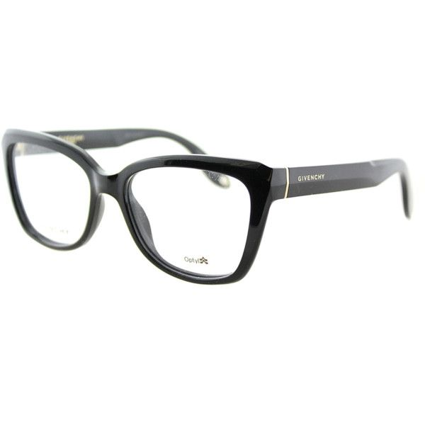 Givenchy Cat-Eye Plastic Eyeglasses (391259002) ($216) ❤ liked on Polyvore featuring accessories, eyewear, eyeglasses, black, cateye eyeglasses, plastic eyeglasses, plastic glasses, givenchy and givenchy glasses