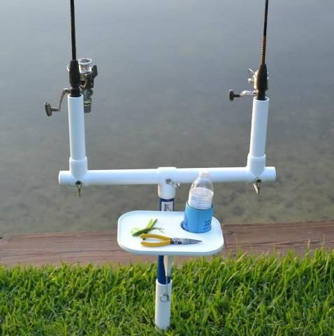 Best 25 fishing rod stand ideas on pinterest fishing for Homemade fishing rod holders