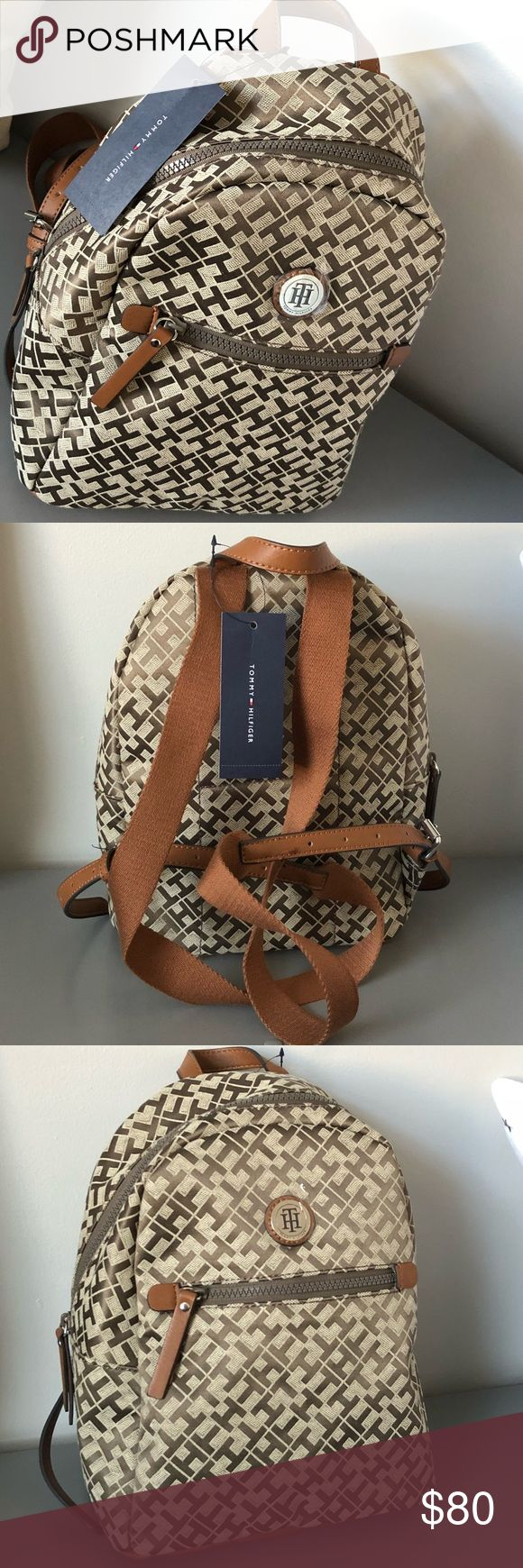 ‼️ NWT Tommy Hilfiger Backpack Brand new never used Tommy Hilfiger backpack Beautiful medium sized bag! Brown and tan! Tommy Hilfiger Bags Backpacks