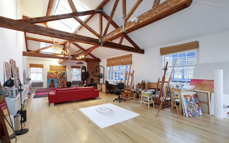 Deep within Shoreditch, this penthouse was converted from three Victorian warehouses. Loads of original character and Victorian features still remain, including exposed brick fireplaces, beams and even factory loading doors.  Guide Price: 2.4 Million