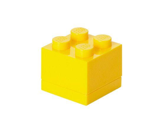 GIFT BOX Small Yellow brick. Travel mini jewelery box by Pinhero