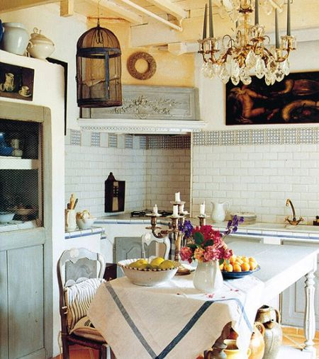 Charming French Kitchen.