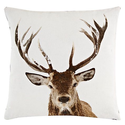Obsessed with stags.  John Lewis Stag Head Cushion johnlewis.com