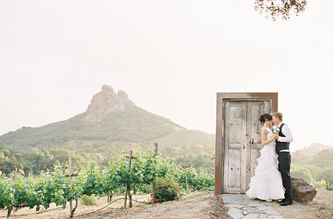 the scenery at this malibu ranch wedding was amazing as was the couple!