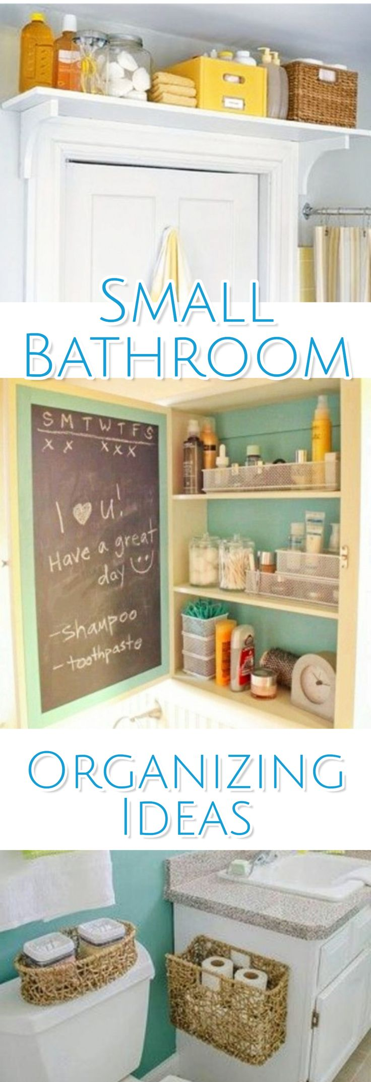 Small Bathroom Organizing Ideas - Creative Ways to get More Space and More Storage in a Small Bathroom
