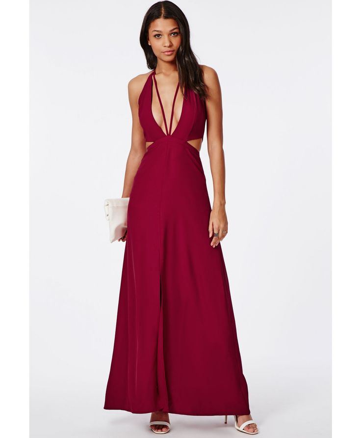 Bella Red Chiffon Strappy Maxi Red - Dresses - Maxi Dresses - Missguided