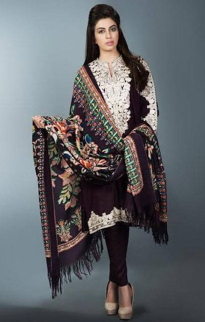 Buy Black Linen Salwar Kameez by Mausummary Winter Collection
