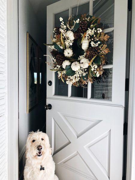 my fall wreath how to hang a wreath on the door wreaths rh pinterest com