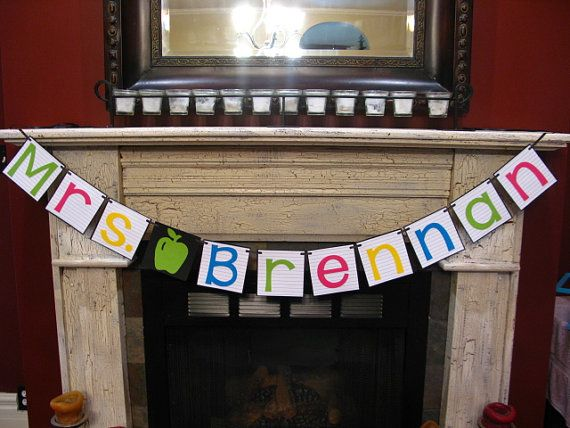 Hey, I found this really awesome Etsy listing at https://www.etsy.com/listing/244537759/personalized-teacher-name-banner