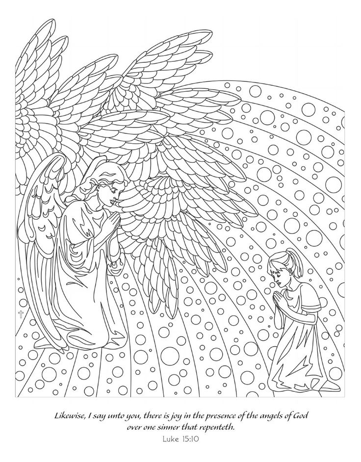 warrior angel coloring pages - photo#35