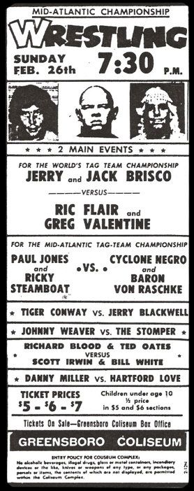 Greensboro, NC (Coliseum) 1978-02-26 (Mid-Atlantic)