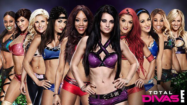 Naomi, Rosa Mendes, Natalya, Nikki Bella, Alicia Fox, Paige, Eva Marie, Brie Bella, Cameron & Summer Rae. Total Divas will continue in January 4, 2015 at 9/8c on E!