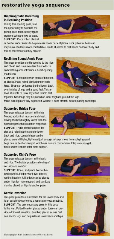 Restorative Yoga Poses - Restorative Yoga Sequence