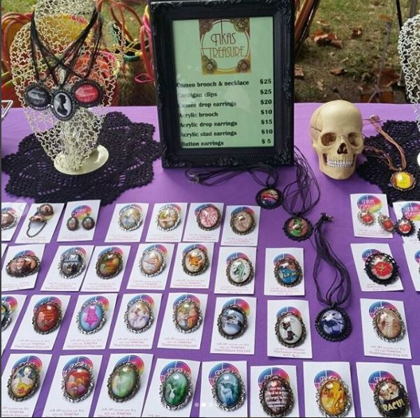 Tikas Treasure stand at Ironfest Lithgow - April 2017