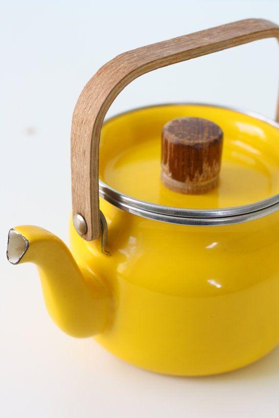 Yellow | Giallo | Jaune | Amarillo | Gul | Geel | Amarelo | イエロー | Colour | Texture | Style | Form | Via Etsy | Yellow Tea Pot