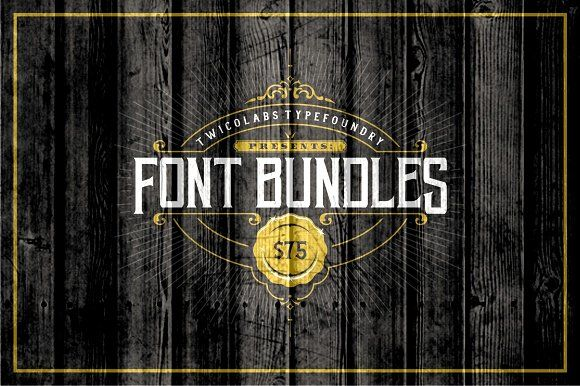 Font Bundles (70% OFF) by Twicolabs Fontdation on @creativemarket