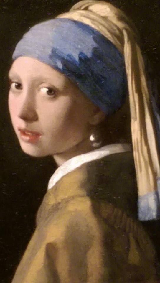The Girl with the Pearl Earring in het Mauritshuis in Den Haag.