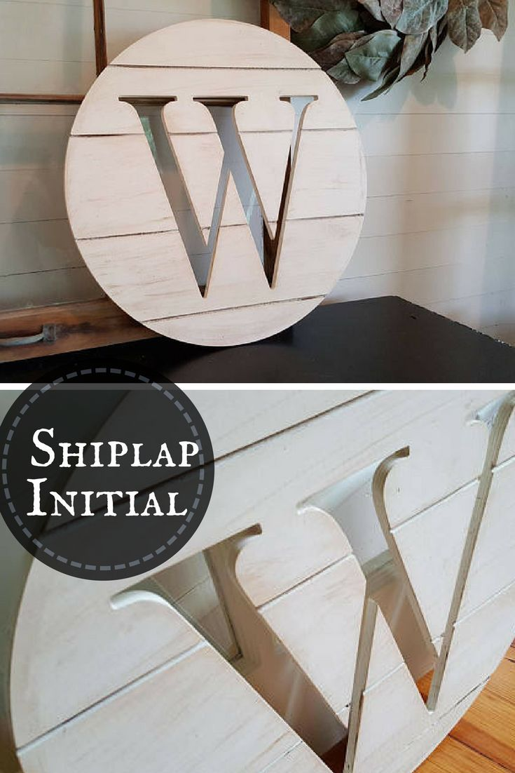 Shiplap Family Initial, great addition to my gallery wall! #initial #family #walls #decor #shiplap #etsy #ad