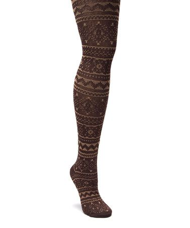 Look what I found on #zulily! Camel & Java Tights #zulilyfinds