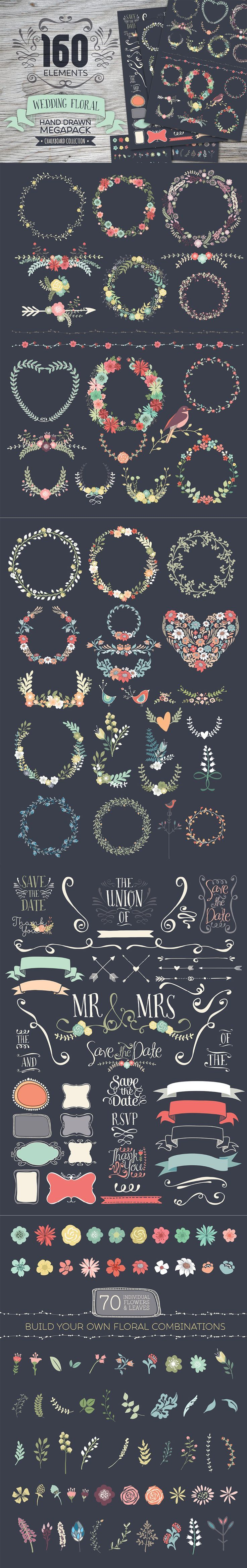 The Essential, Creative Design Arsenal (1000s of Best-Selling Resources) Just $29 - Chalkboard Floral Megapack
