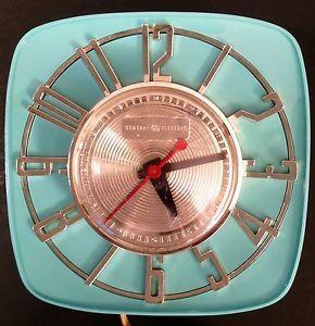Yes please!!!! mid century aqua | ... Mid Century Modern Mad Men Retro GE Wall Kitchen Clock Aqua Turquoise