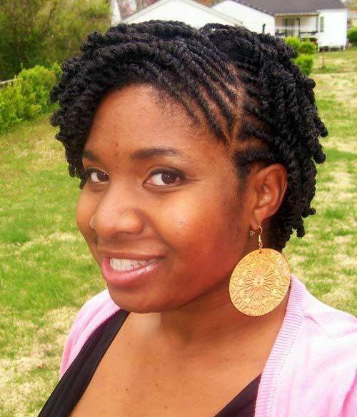 Short Natural Flat Twist Hairstyles For Black Women Google Search