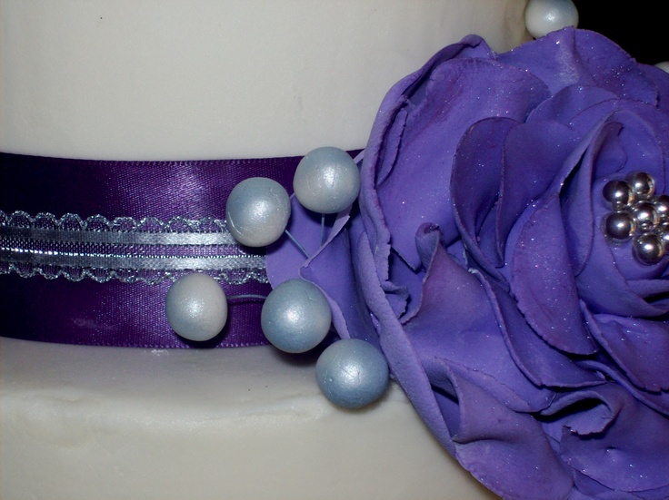 purple & silverCake, Purple, Silver