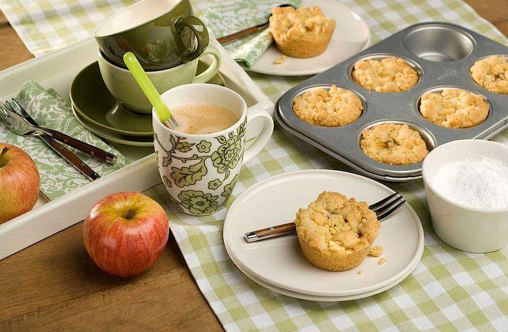 Zelfgemaakte appel-kruimelkoeken zijn het aller lekkerst!