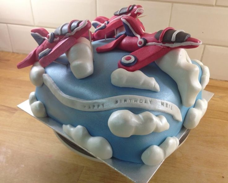 Red Arrows Cake for Neil