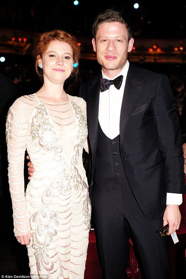 Inseperable: The outing was their first debut as a couple at a public event, and the two thespians - who met while filming the BBC's War And Peace - looked every inch the picture perfect pair throughout the evening