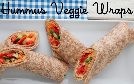 Hummus Veggie Wraps Recipe on Yummly