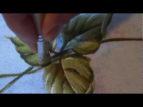 Como pintar folhas em tecido