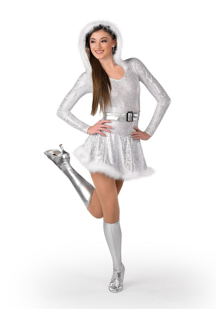 H389 Winter Wonderland Holiday Show Snow Bunny Rockette Costume
