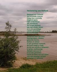 Gedicht van Marsman denkend aan Holland