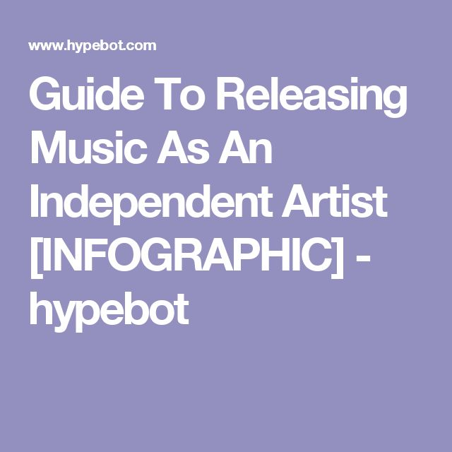 Guide To Releasing Music As An Independent Artist [INFOGRAPHIC] - hypebot