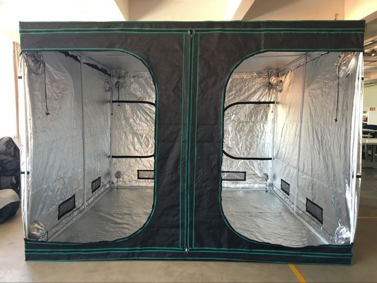 Smart 118 x 118 x 84 Inches Double D-Door Reflective Mylar Hydroponic Grow Tent for Indoor Planting with 2 Big Observed Windows : big grow tents - memphite.com