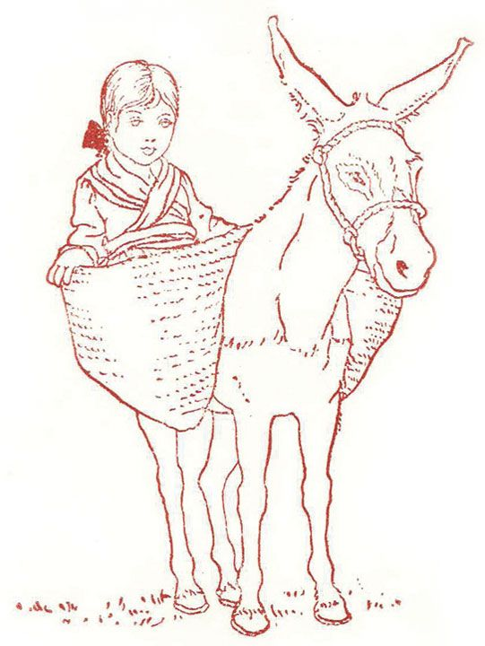 Ilustración de Fernando Marco para la primera edición de Platero y yo (1914). #Plateroyyo #ilustración #FernandoMarco