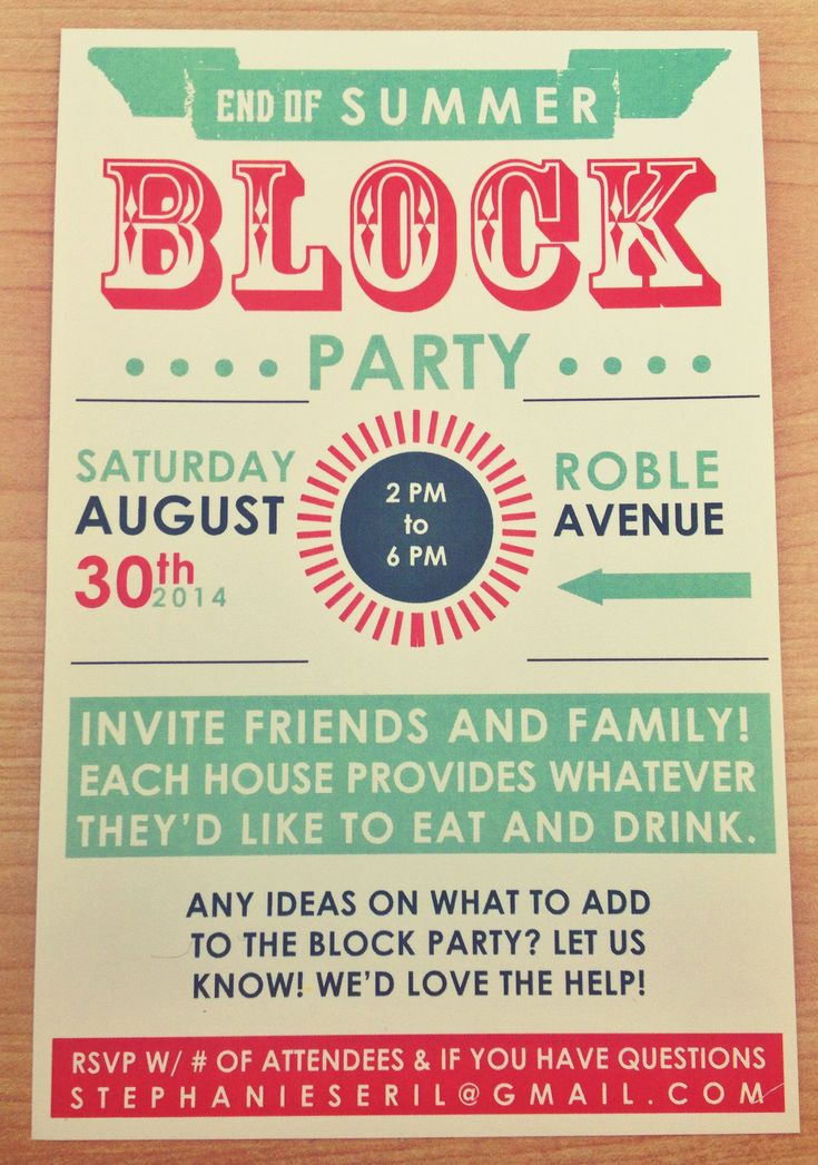 the 25+ best block party invites ideas on pinterest | neighborhood, Party invitations